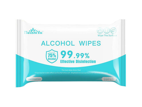 2-pack Alcohol Wipes - Travel Pack (10 wipes per package)