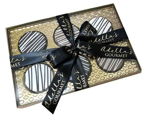 Adella's Gourmet Chocolate Oreo Cookies 6pc.