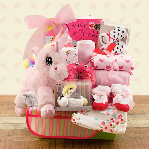 Totally Pampered Baby Girl Gift Basket