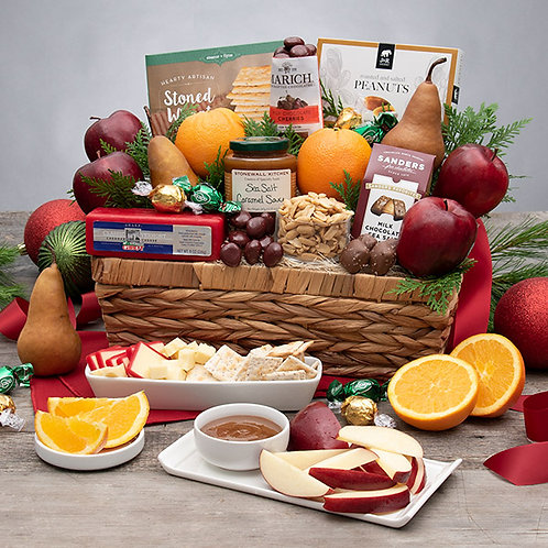 Christmas Bounty Fruit and Gourmet Snacks
