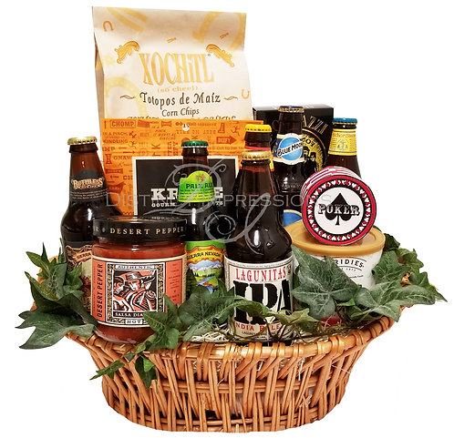 Beer Collection and Snacks Gift Basket