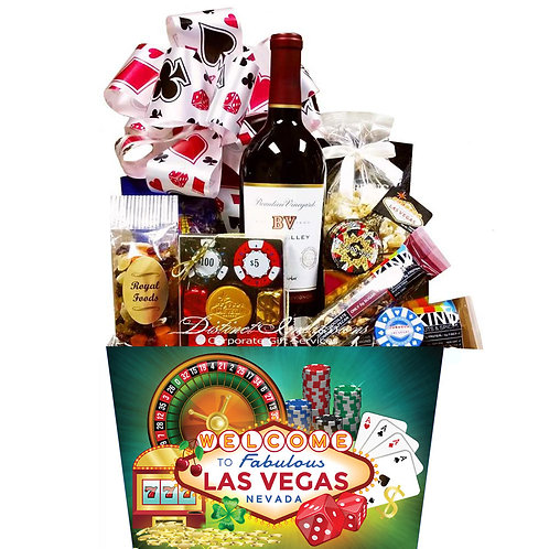 Welcome to Las Vegas Wine and Chocolates Gift Basket