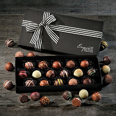 Corporate Chocolate Truffle Gifts with Personalization. Boxed Gifts with Company Logo