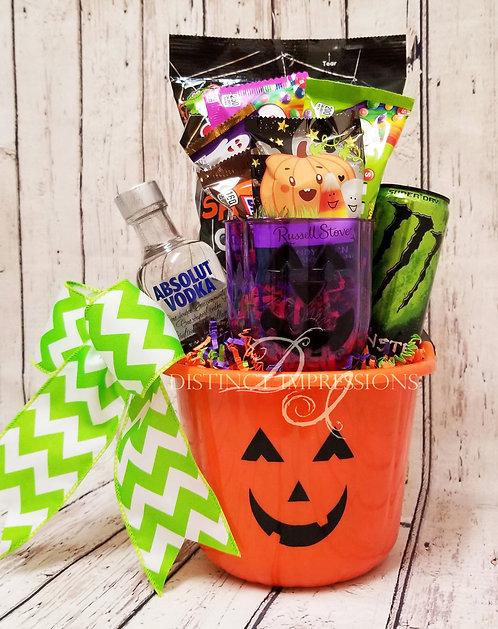 Halloween BOOOOS and Candy Bucket - Orange