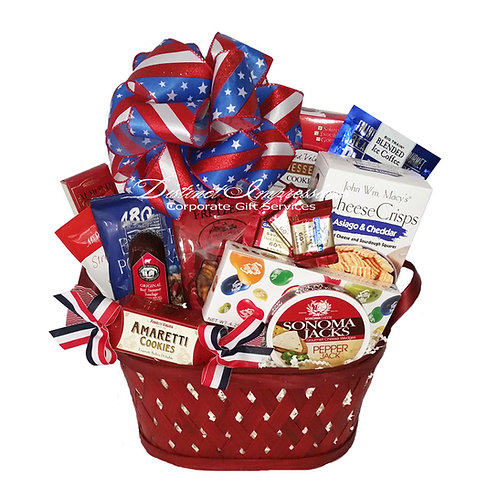 God Bless The USA Snack Gift Basket