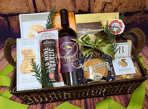 Gourmet Wine, Cheese and Crackers Gift