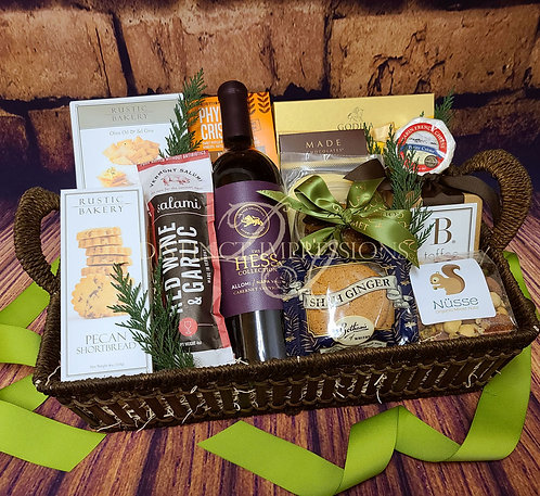 A True Gourmet Gift - Red Wine Celebration Gift Basket