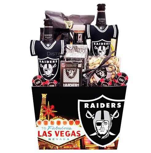 Las Vegas Raiders - Beer Gift Basket