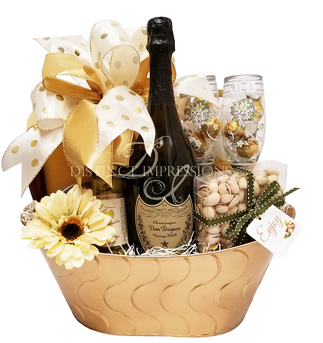 Dom Perignon Wedding Champagne Gift Basket