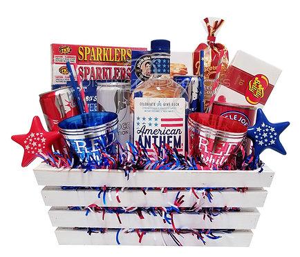 American Anthem Patriotic Vodka Gift Crate