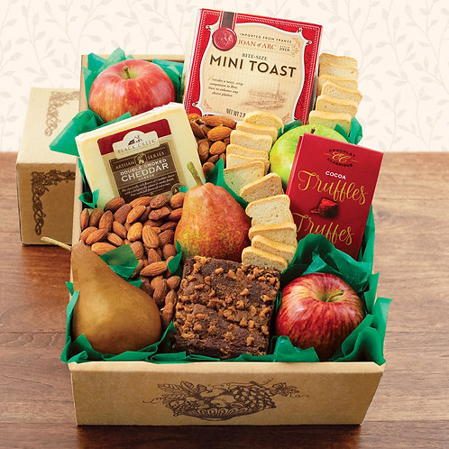 Fruit and Cheese Snacker's Gift Box