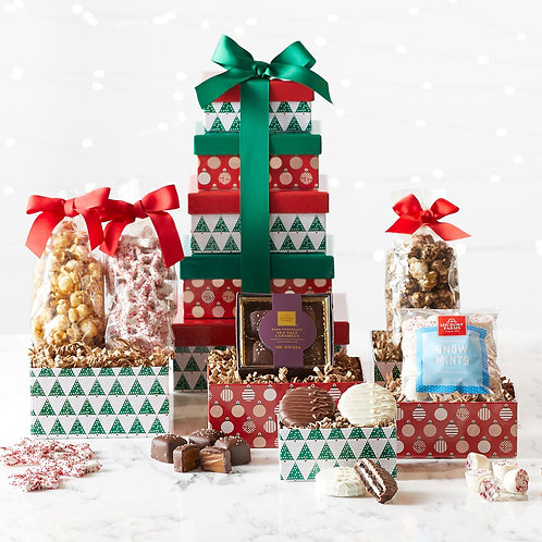 Holiday Sweets Gift Tower for Christmas