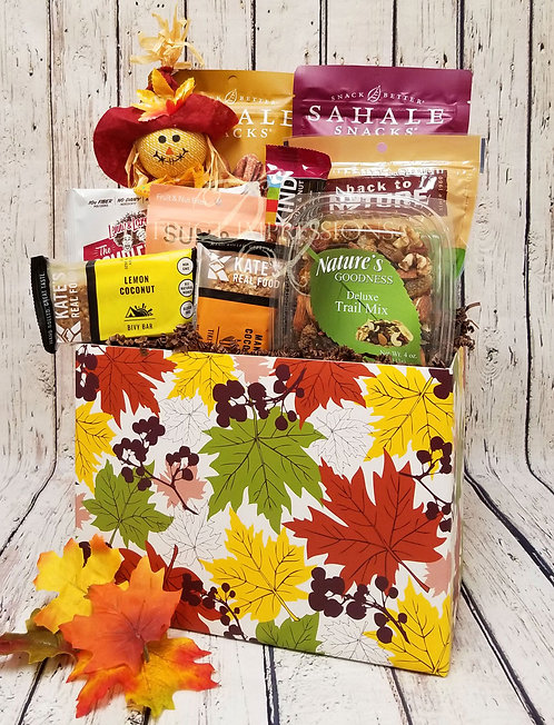 Fall Bounty of Healthy Snacks Gift Basket