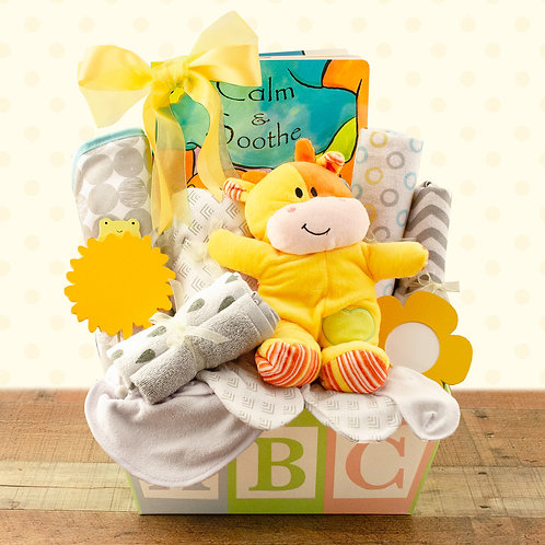 Welcome Home Baby Gift Basket - Neutral