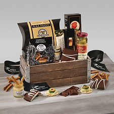 Corporate Branded Food Gift Baskets with Business Name and Logo for Corporate Gifting