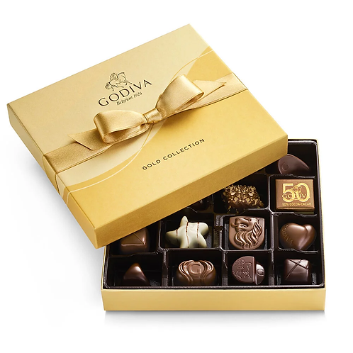 Godiva® Chocolates 19 Piece Gold Box (Add on item NOT Sold Separately)