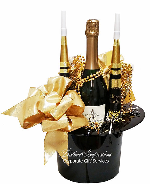 New Year's Top Hat - Champagne Gift