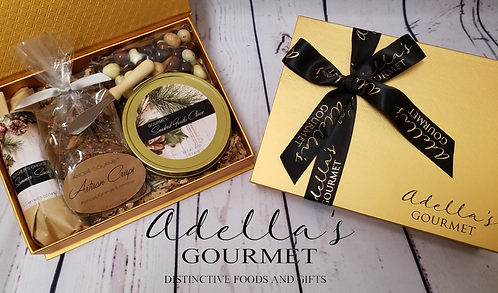 Holiday Golden Gourmet Gift Box - Adella's Gourmet