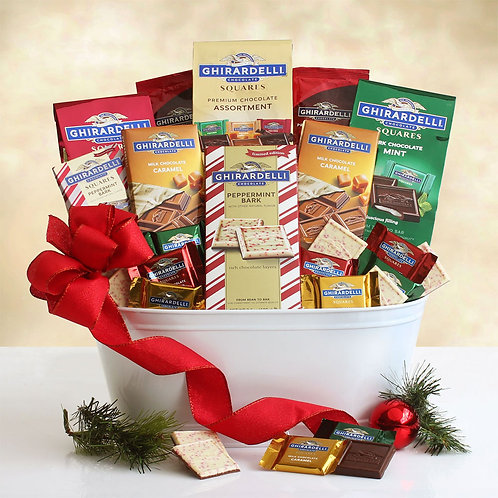 Christmas Ghirardelli Chocolates Gift Tin