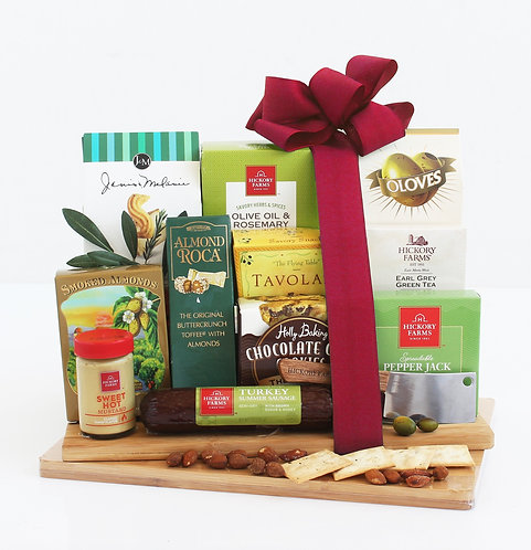 The Ultimate Gourmet Cheeseboard Gift Featuring Meat and Cheese