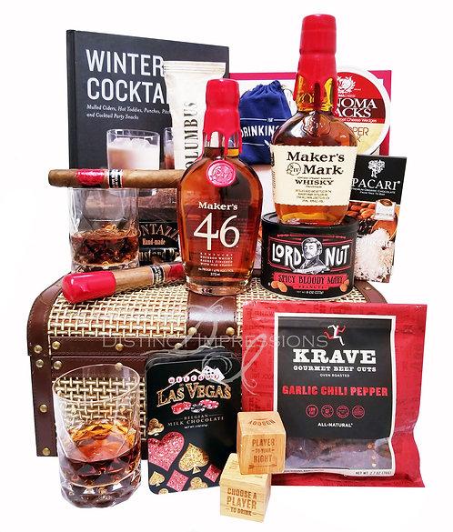 Maker's Mark Bourbon Whisky And Cigar Gift