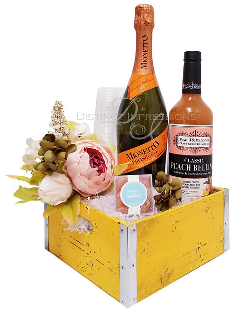 Summer Peach Bellini - Brunch Gift Basket