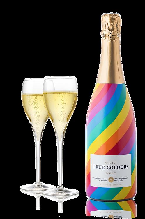 True Colours Cava - LGBTQ Sparkling Wine and Glasses
