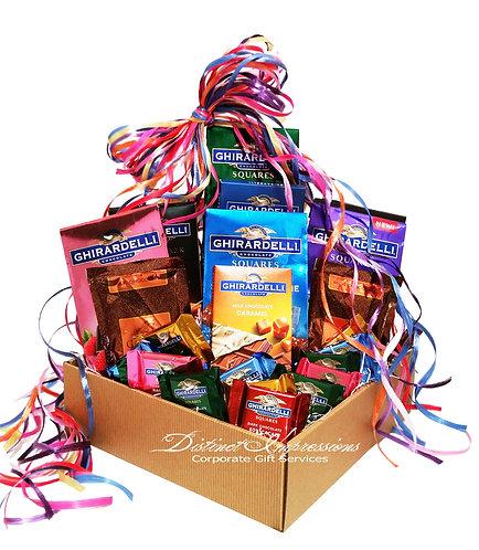 Rainbow of Ghirardelli - Chocolate Gift Basket