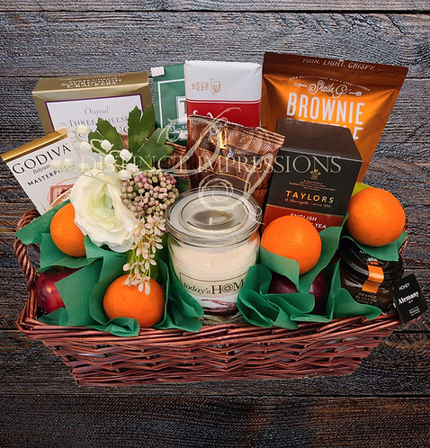 Our Condolences Gift Basket with Fruit