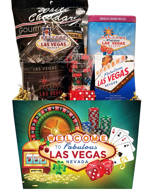 Las Vegas Snack and Souvenir Gift Basket