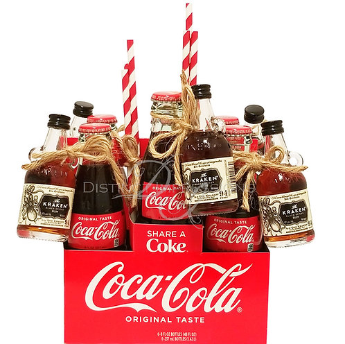 Kraken Spiced Rum and Coca Cola 6 Pack Gift