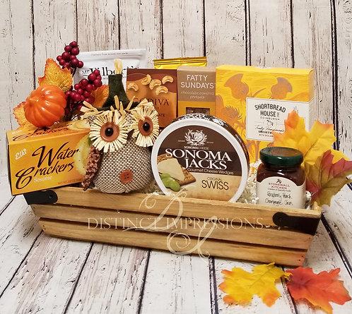 Falling Leaves Gourmet Gift Basket - Petite