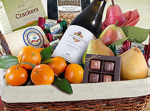 Fruit and Wine Sympathy Gift Basket