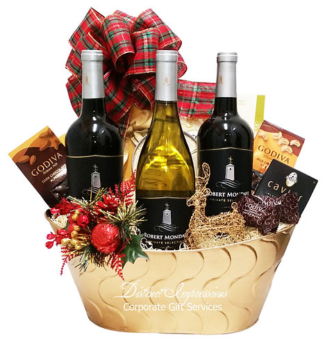 Happy Holidays - Robert Mondavi Wine Gift Basket