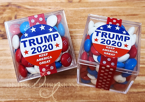 Trump 2020 Candy Cubes with M&M's