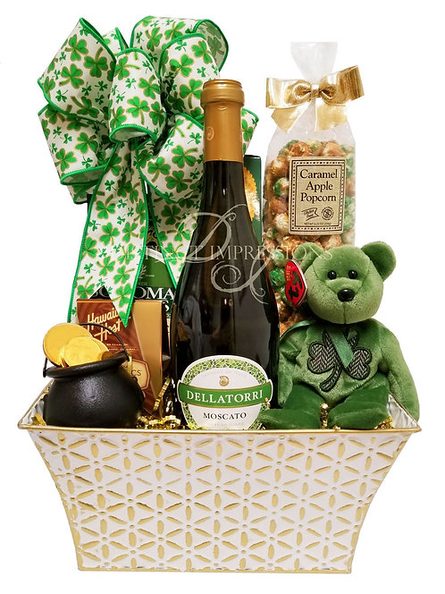 St. Patrick's Day Moscato and Gourmet Gift Basket