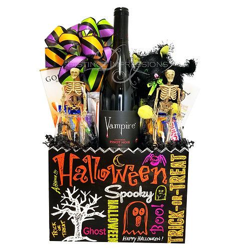 Halloween Vampire Wine Gift Basket