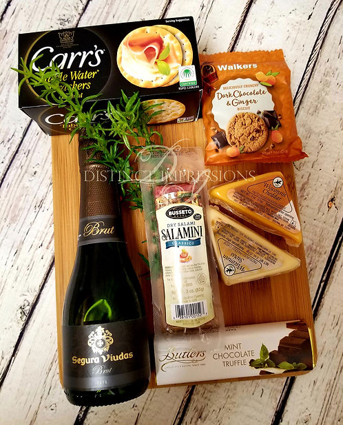 Gourmet Sparkling Wine Cutting Board Gift