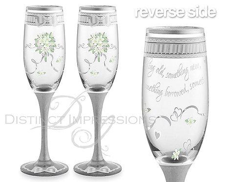 Wedding Champagne Glasses (Set of 2)