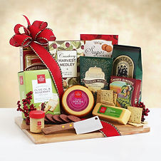 Holiday Meat and Cheese Gift Board with Hickory Farms