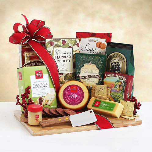 Seasons Greetings Holiday Cutting Board Gift