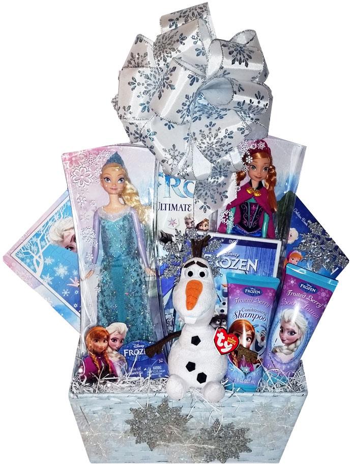 Custom Disney Frozen Gift Basket