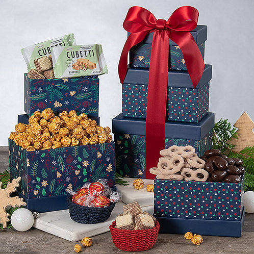 Sweets for the Holidays Gift Tower