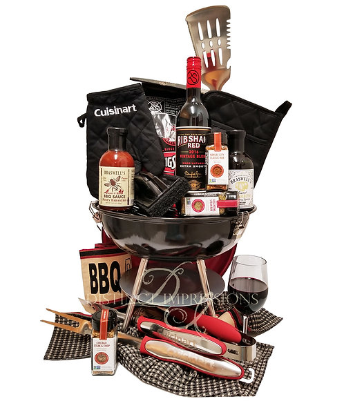 The Ultimate Barbeque Grill Gift with Red Wine