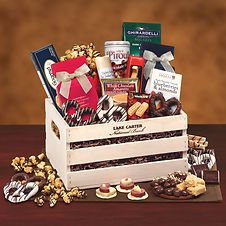 Corporate Buiness Gifts in a Branded Wood Personalized Gift Crate