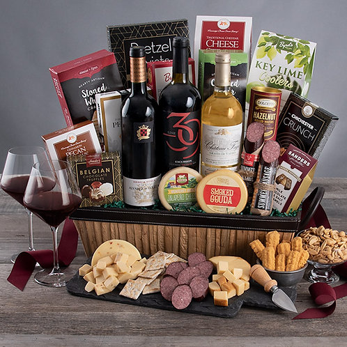 Elegant Holiday Celebration Gourmet Wine Gift