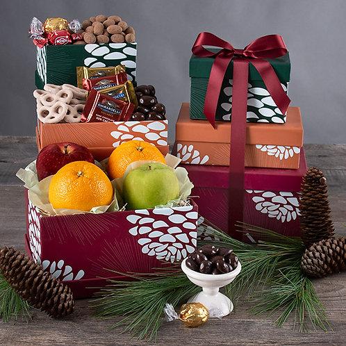 Plentiful Fruit and Chocolates Gift Tower