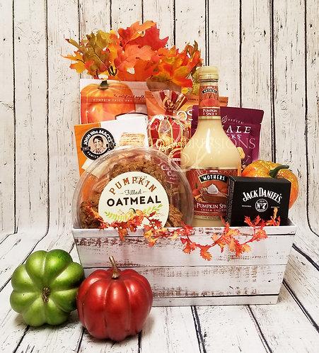 Pumpkin Spice Snacks Gift Basket for Thanksgiving