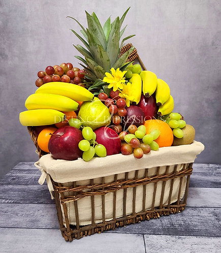 Classic Fresh Fruit Gift Basket Sympathy Gift- Large