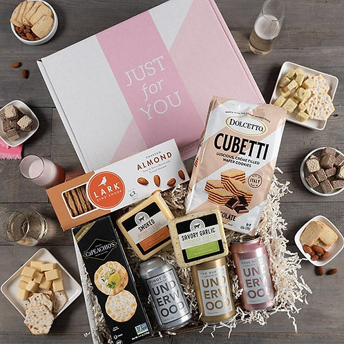 Just For You Gift Box for Her with Wine and Snacks